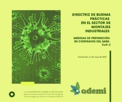 """""""Directriz de Buenas Prácticas en el Sector de Montajes Industriales. Medidas de Prevención de Contagios del SARS-CoV-2"""": nueva Guía publicada por ADEMI"""